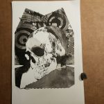 print 2 of skull with circle, shopwing break down of plate