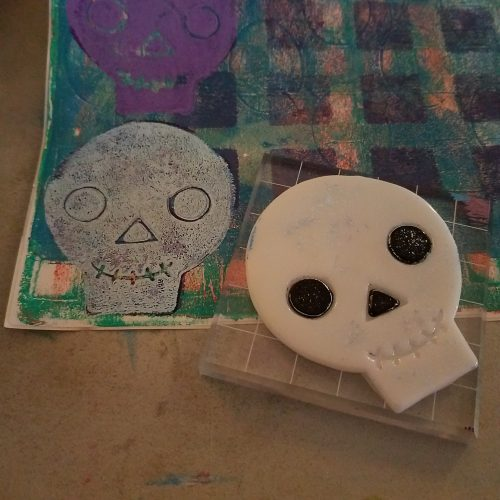 gel cling on an acrylic block
