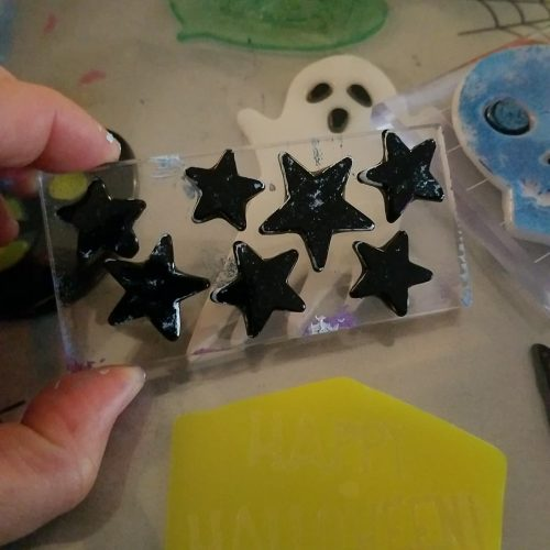 star shaped clings on a block